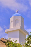 Dome and cross of small church Royalty Free Stock Photo