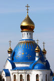 Dome and crosses atop of orthodox church Royalty Free Stock Photography