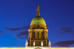 Dome. Customs house at night. Dublin. Ireland. Dome of the Customs house illuminated at night. Dublin. Ireland Royalty Free Stock Image
