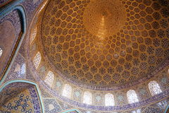 Dome. A decorated dome in Iran royalty free stock images