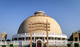 Dome of Deekshabhoomi in Nagpur, India. Deekshabhoomi is a sacred monument of Navayana Buddhism located where the architect of the Indian Constitution, B. R Stock Images
