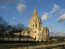 Dome des Invalides. The Dome des Invalides in Paris, France royalty free stock photo