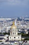 Dome des invalides paris france Stock Photography