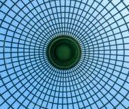 Dome design of garden pavilion. Dome design architecture of outdoor garden pavilion under blue sky stock photos