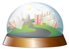 A dome designed city Stock Images