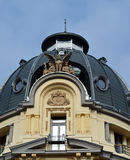 Dome and detail from House with Sphinx, Bucharest, Romania Royalty Free Stock Images