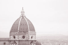 Dome of Duomo Cathedral Church, Florence Royalty Free Stock Photography