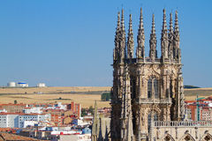 The Dome of The East Face of Burgos Cathedral. Spain Royalty Free Stock Images