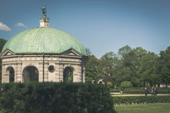 Dome in Englischer Garten. Munich royalty free stock photography