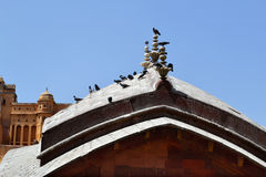 Dome at the entrance of amer fort Jaipur Rajasthan India Royalty Free Stock Photo