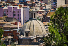 The dome of the ex Monastery in Paterno. Sicily Royalty Free Stock Photos