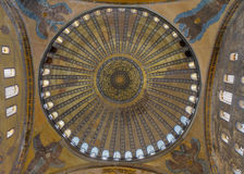 Dome of the famous Hagia Sophia Royalty Free Stock Image