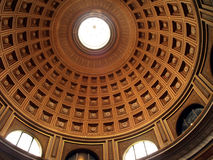 Dome first. Indoor shot of a big cupola Stock Images