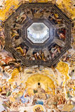 Dome of the Florence Cathedral. Painting on the inside of the dome of the Florence Cathedral. Created in 1568 by Giorgio Vasari and Federico Zuccari Stock Image