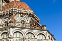 The dome of Florence Cathedral close-up Royalty Free Stock Photo