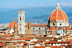 The dome of Florence Cathedral. Italy Royalty Free Stock Images
