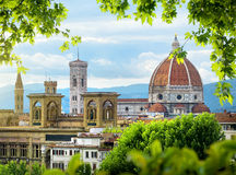 Dome of Florence. Cathedral of Saint Mary of the Flower in Florence, Italy Royalty Free Stock Photography