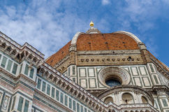 The Dome in Florence. The Cattedrale di Santa Maria del Fiore is the main church of Florence, Italy. Il Duomo di Firenze, as it is ordinarily called Stock Photography