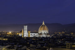Dome of Florence. The first light of the sun on the dome of Florence royalty free stock photography