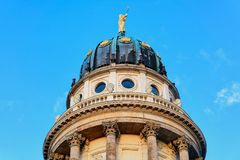 Dome of French Church on the Gendarmenmarkt. In Berlin, in Germany stock photography