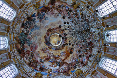 Dome fresco of Ettal abbey Stock Photography