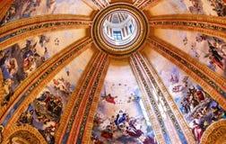 Dome Frescoes San Francisco el Grande Madrid Spain Stock Photo