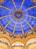 Dome of Galeries Lafayette. Interior in Paris, France stock images
