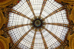 The Dome of Galeries Lafayette in Paris - France. The dome of the luxurious shopping mall Galeries Lafayette in Paris stock photos
