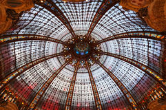 Dome of Galeries Lafeyette Stock Photo