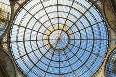 Dome of Galleria Vittorio Emanuele II in Milan Royalty Free Stock Photography