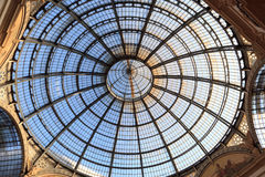 Dome of Galleria Vittorio Emanuele Stock Photo