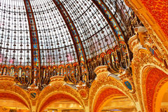 Dome of Gallery Lafayette. Paris royalty free stock photography