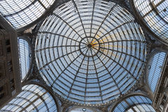 The dome of the Gallery Umberto I, Naples, Italy Royalty Free Stock Photo