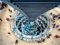 Dome on the German Parliament Reichstag in Berlin Royalty Free Stock Photography
