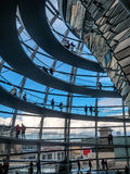 Dome on the German Parliament Reichstag in Berlin Royalty Free Stock Photos