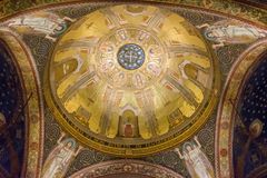 Dome in the Gethsemane church. Mosaic of dome in the Gethsemane church royalty free stock images