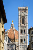 Dome and Giotto Tower Royalty Free Stock Photos