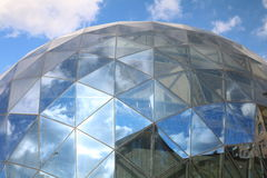 Dome of the glass building Stock Image