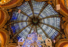 Dome and Glass of Galeries Lafayette, Paris royalty free stock images