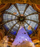 Dome and Glass of Galeries Lafayette, Paris Stock Image