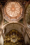 Dome Golden Altar Valencia Church Mexico Royalty Free Stock Photography