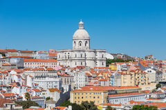 Dome of Gothic Church in Lisbon stock images