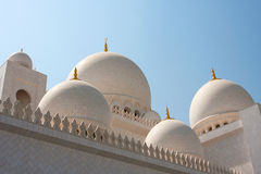 Dome of Grand Mosque in Abu Dhabi Royalty Free Stock Photos