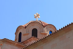 Dome of greek church Royalty Free Stock Photo