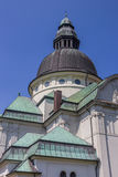 Dome and green roof of the saint Martin church in Haren. Germany royalty free stock image
