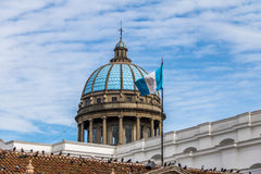 Dome of Guatemala City Cathedral and Guatemalan Flag -  Guatemala City, Guatemala Royalty Free Stock Images
