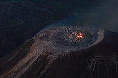 dome guatemala lava santiaguito Στοκ Φωτογραφίες
