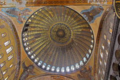 Dome of Hagia Sophia basilica, Istanbul, Turkey Royalty Free Stock Images