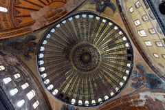 The Dome of Hagia Sophia, Istanbul. Royalty Free Stock Image