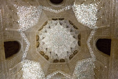 Dome of  Hall of the two Sisters  at  Alhambra Royalty Free Stock Photo